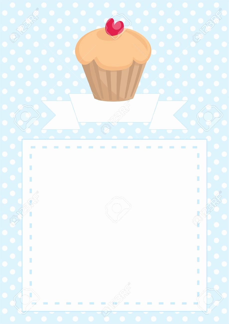 Bridal Shower Menu Template Awesome Cupcake Invitations Templates