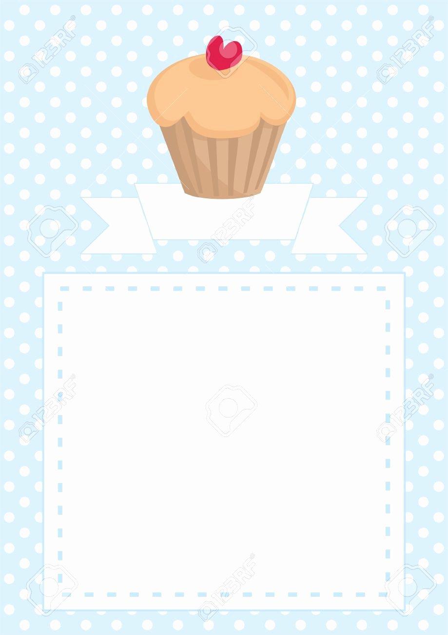 Bridal Shower Menu Template Awesome Cupcake Invitations Templates