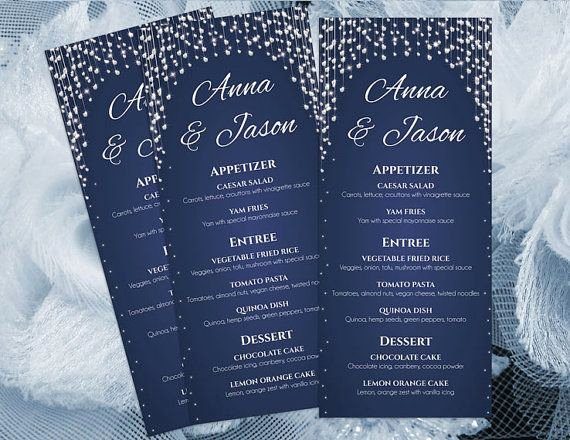 Bridal Shower Menu Template Elegant Diy Printable Wedding Menu Template