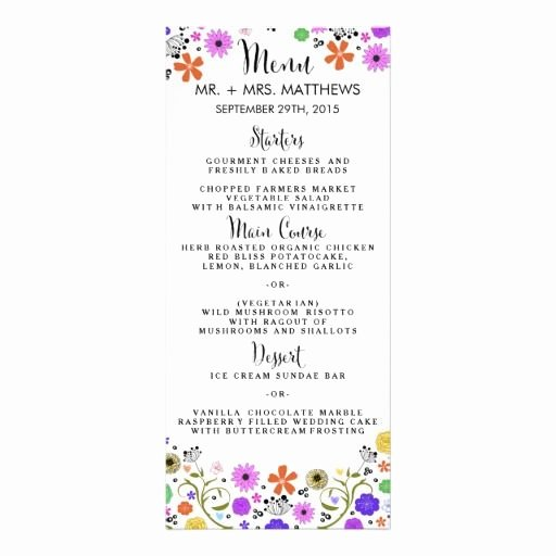 Bridal Shower Menu Template New 17 Best the Modern Flowers Collection Images On Pinterest