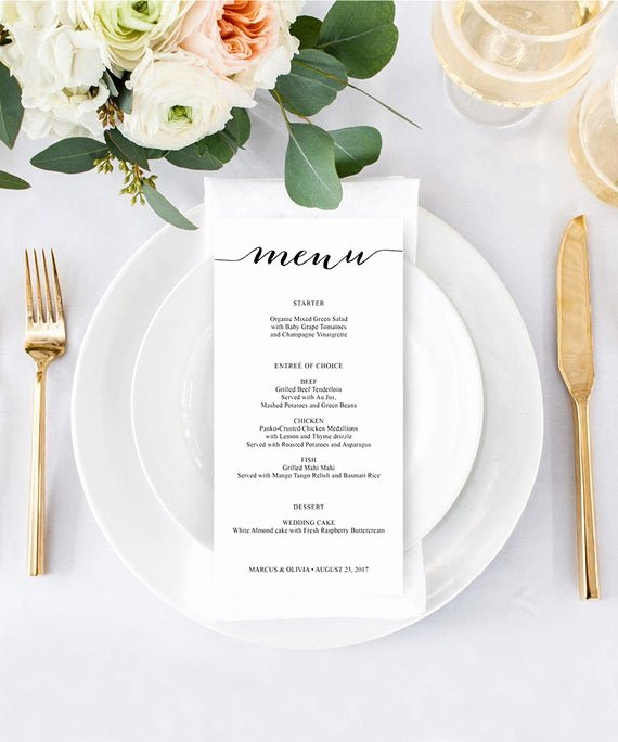 Bridal Shower Menu Template Unique Wedding Menu Diy Wedding Menu Menu Template Diy Shower