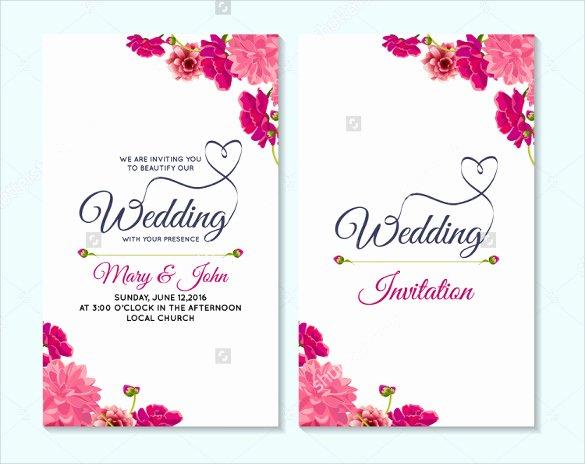 Bridesmaid Card Template Awesome 59 Wedding Card Templates Psd Ai