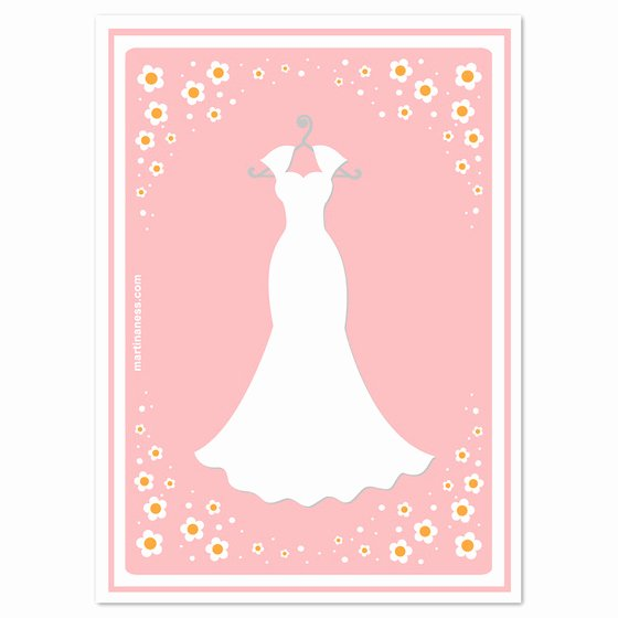 Bridesmaid Card Template Awesome Wedding Dress Template for Cards All Women Dresses
