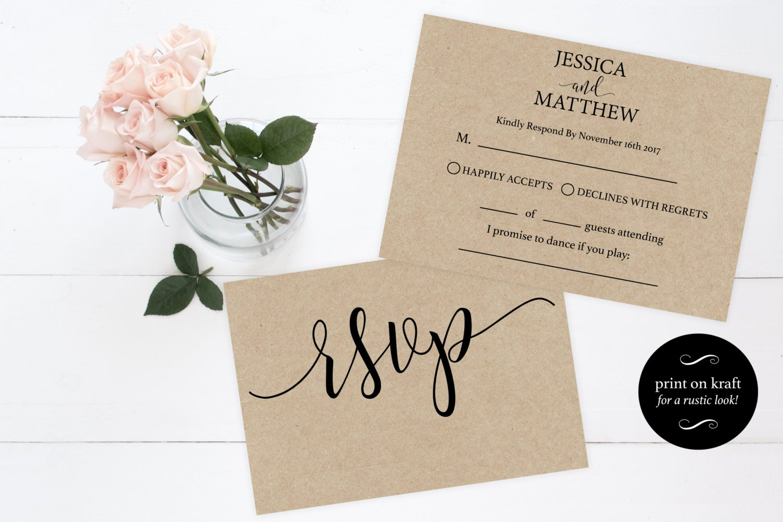 Bridesmaid Card Template Beautiful Rsvp Wedding Template Wedding Rsvp Cards Rsvp Online