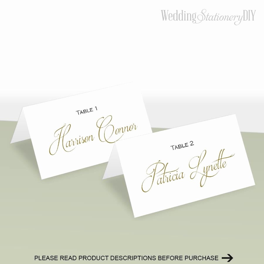 Bridesmaid Card Template Beautiful Simple Elegance Place Card Template Place Cards Wedding Diy