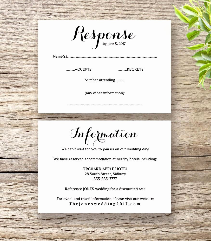 Bridesmaid Card Template Best Of Printable Wedding Invitation Rsvp Information Templates