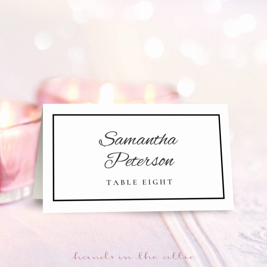 Bridesmaid Card Template Best Of Wedding Place Card Template Free Download