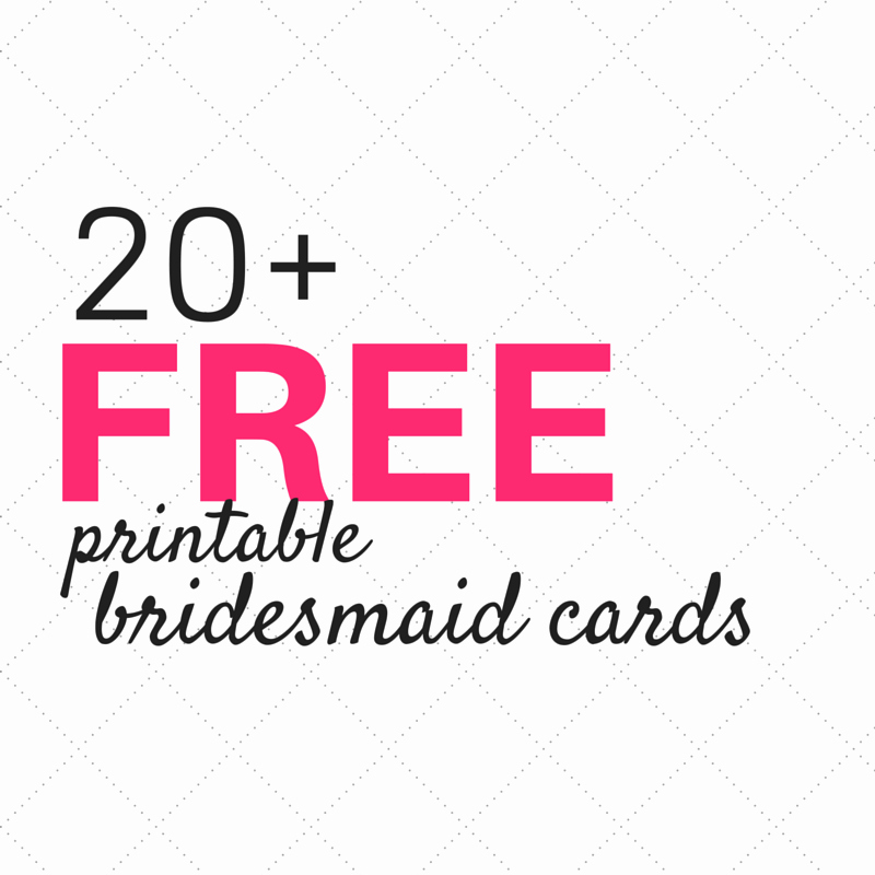 "Bridesmaid Card Template Elegant 20 Free ""will You Be My Bridesmaid"" Cards – Weddings"