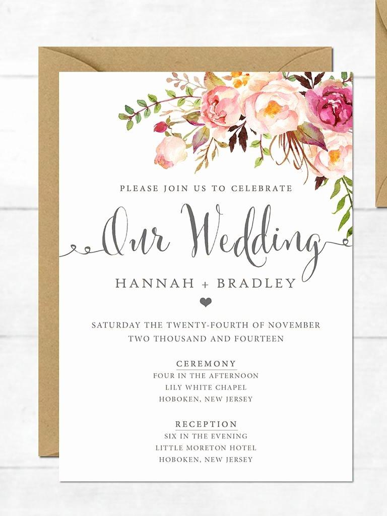 Bridesmaid Card Template Fresh Wedding Invitation Printable Wedding Invitation