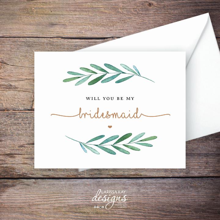 Bridesmaid Card Template Inspirational 19 Bridesmaid Cards Editable Psd Ai Indesign format