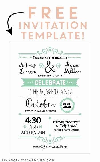 Bridesmaid Card Template Inspirational Free Printable Wedding Invitation Template