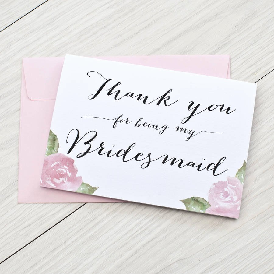Bridesmaid Card Template New Thank You for Being My Bridesmaid Card by Here S to Us