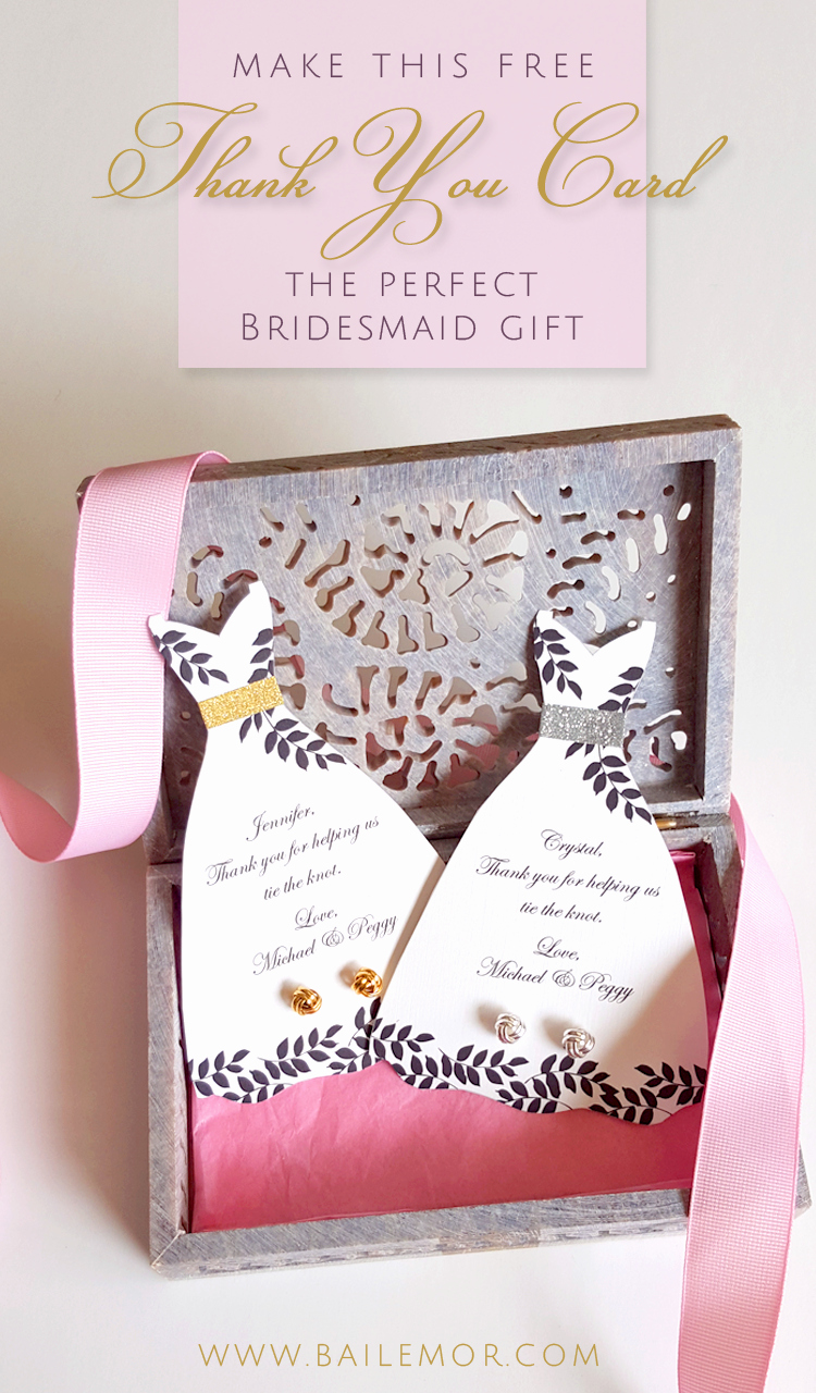 Bridesmaid Card Template Unique Bridesmaid Thank You Card Template Free Instant Download