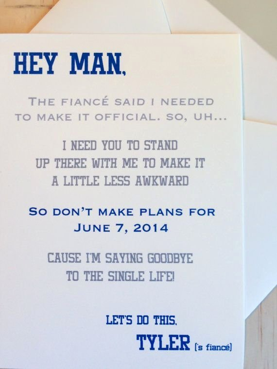 Bridesmaid Proposal Letter Best Of How to ask Your Groomsmen A Witty Letter