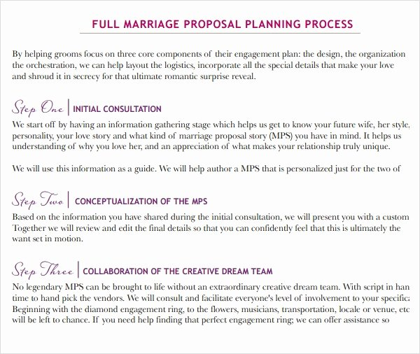 Bridesmaid Proposal Letter Fresh 9 Sample Wedding Proposal Templates to Download