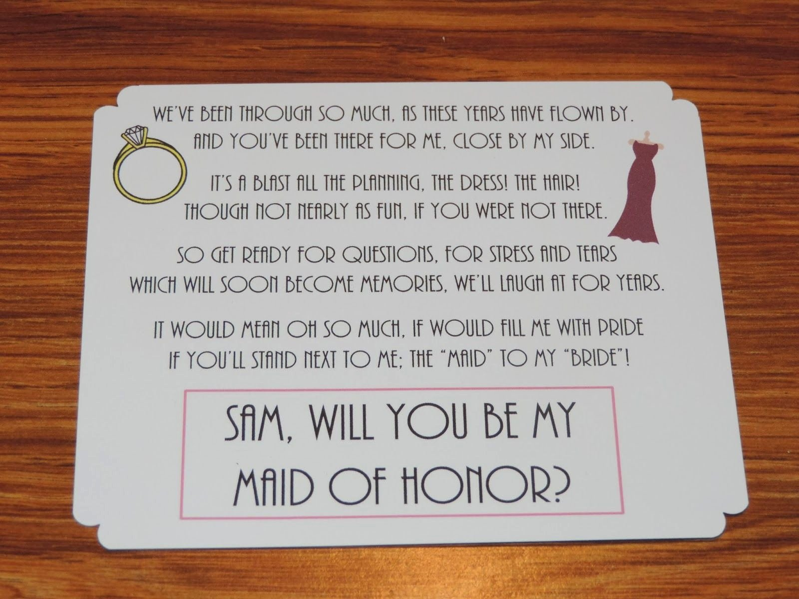 Bridesmaid Proposal Letter Inspirational Cute Way to Invite someone to Be Your Bridesmaids Maid Of
