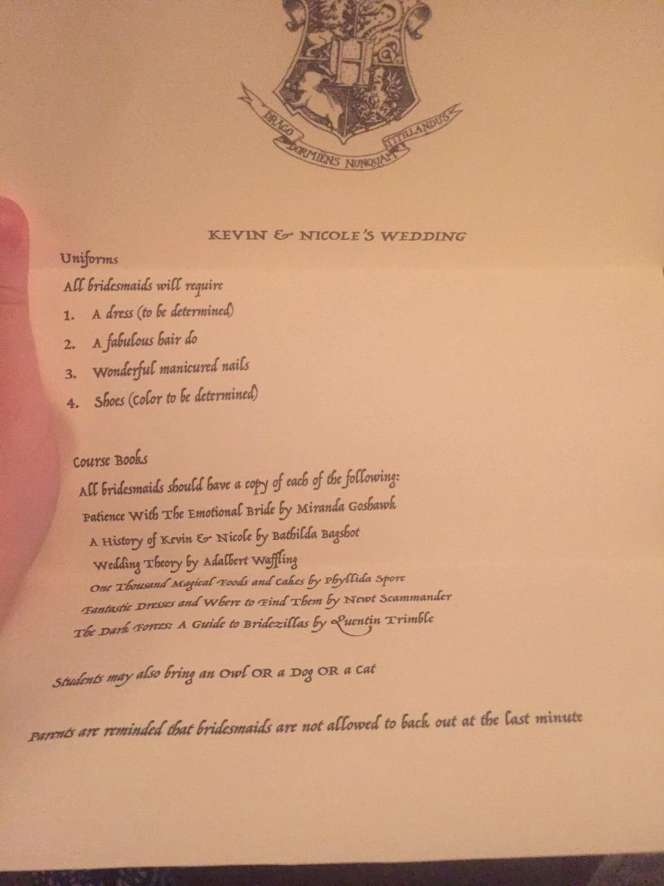 Bridesmaid Proposal Letter Lovely Harry Potter Bridesmaid Proposal