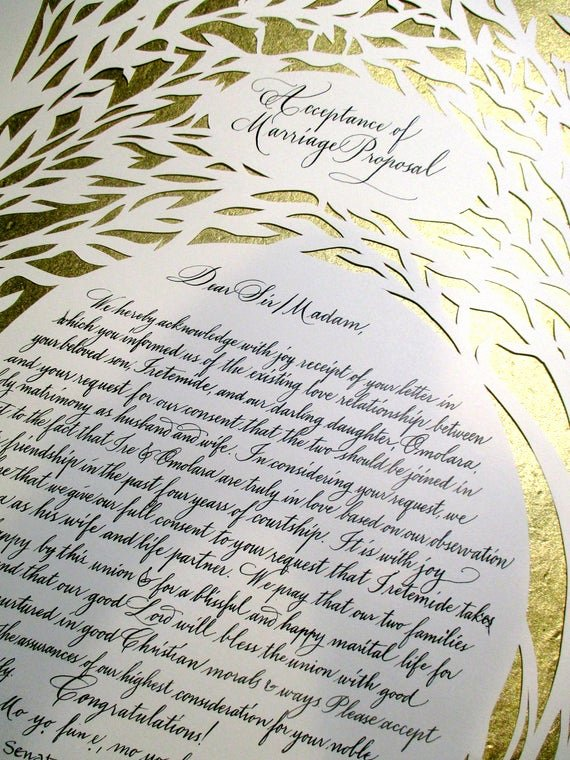 Bridesmaid Proposal Letter Lovely Items Similar to Set Of Two Nigerian Wedding Proposal and