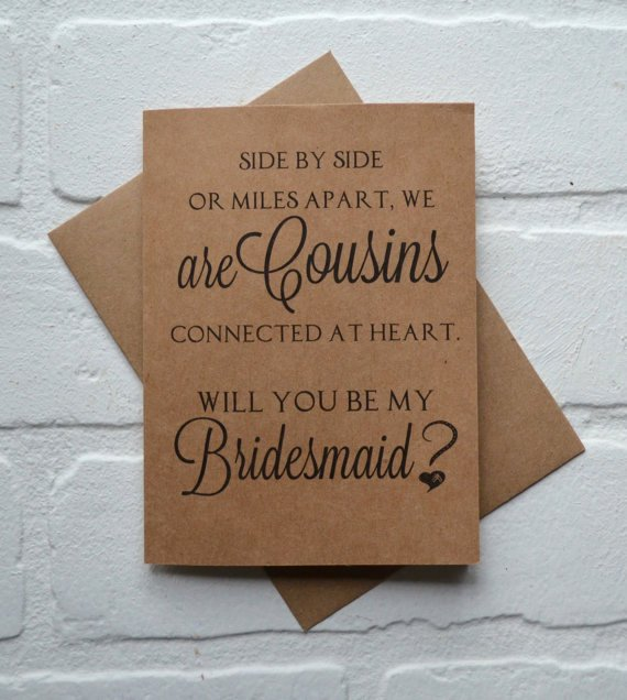 Bridesmaid Proposal Letter Lovely Will You Be My Bridesmaid Side by Side or Miles Apart We