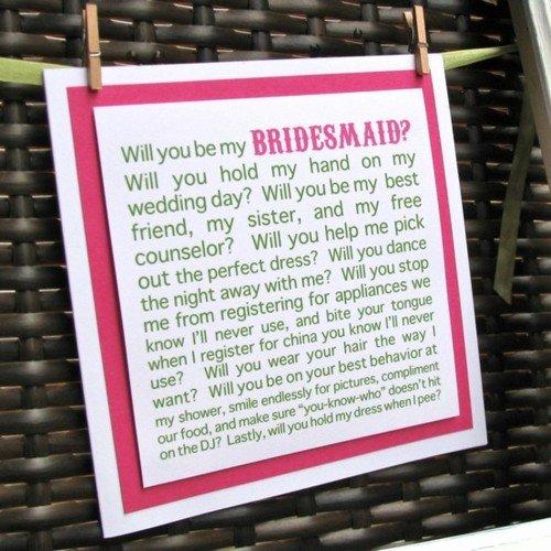 Bridesmaid Proposal Letter Unique Wedding Trends Bridesmaids Proposals