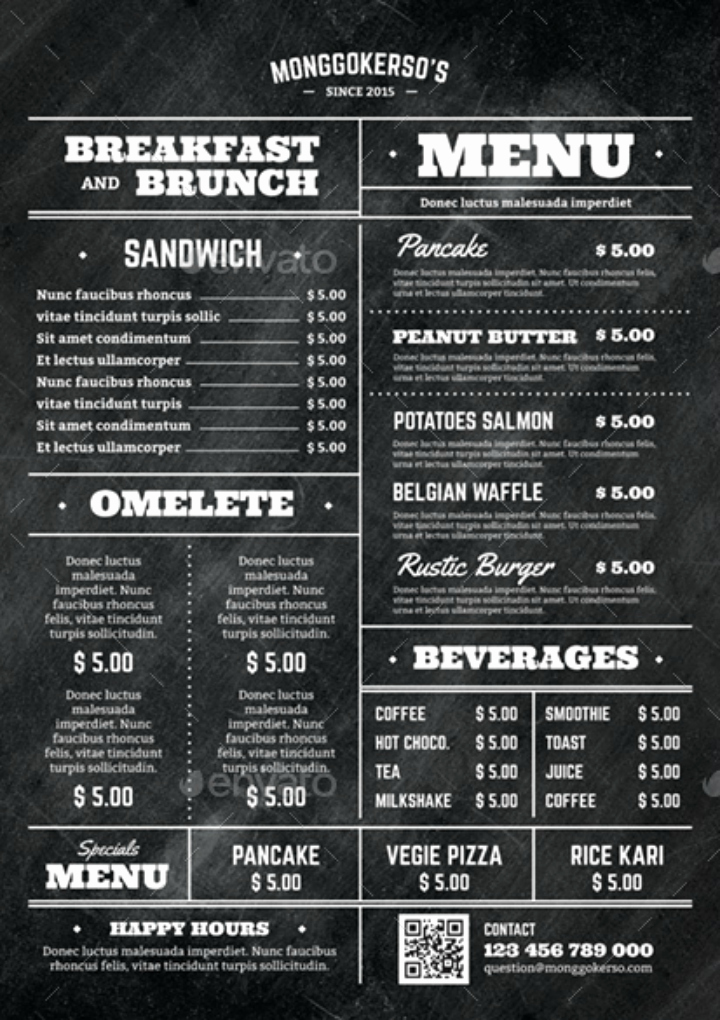 Brunch Menu Templates Awesome 14 Brunch Menu Templates Editable Psd Ai format