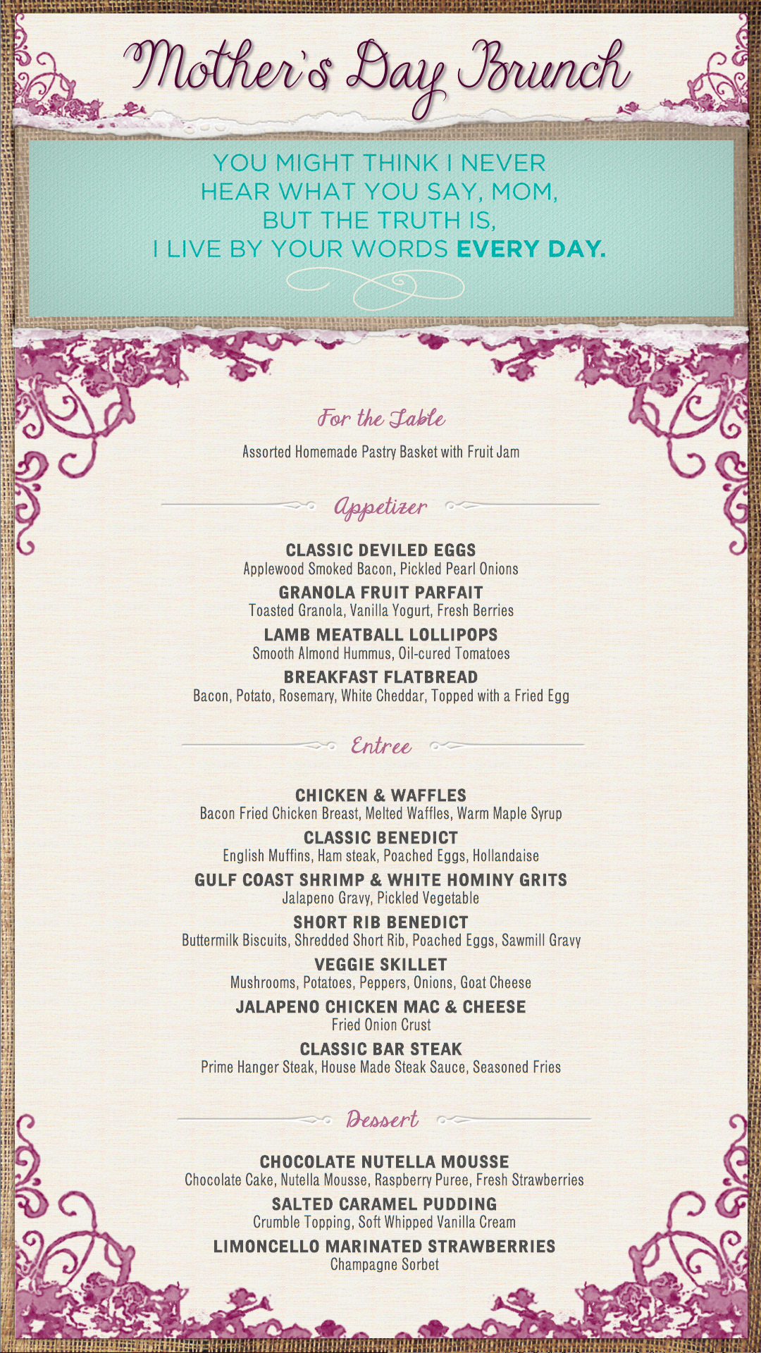 Brunch Menu Templates Awesome Ce Labs – Plete Digital Signage solutions Mother S Day