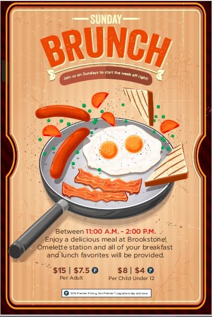 Brunch Menu Templates Awesome Sunday Brunch event Flyer Poster Template
