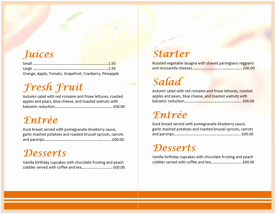 Brunch Menu Templates Best Of Breakfast Menu Template Word Templates