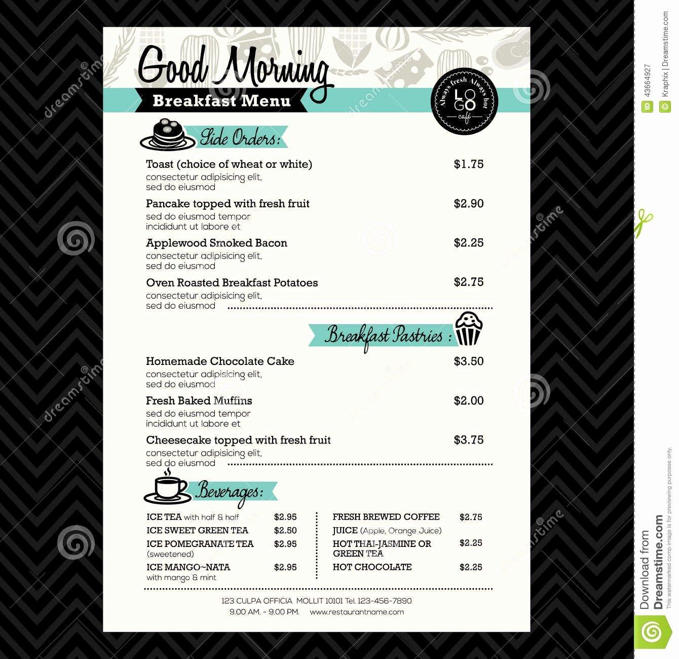 Brunch Menu Templates Inspirational Breakfast Menu Design Ideas Google Search
