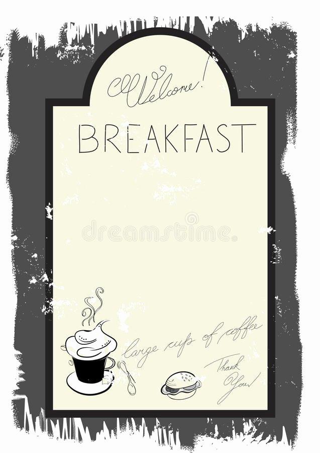 Brunch Menu Templates Inspirational Template for Breakfast Menu Stock Vector Illustration Of