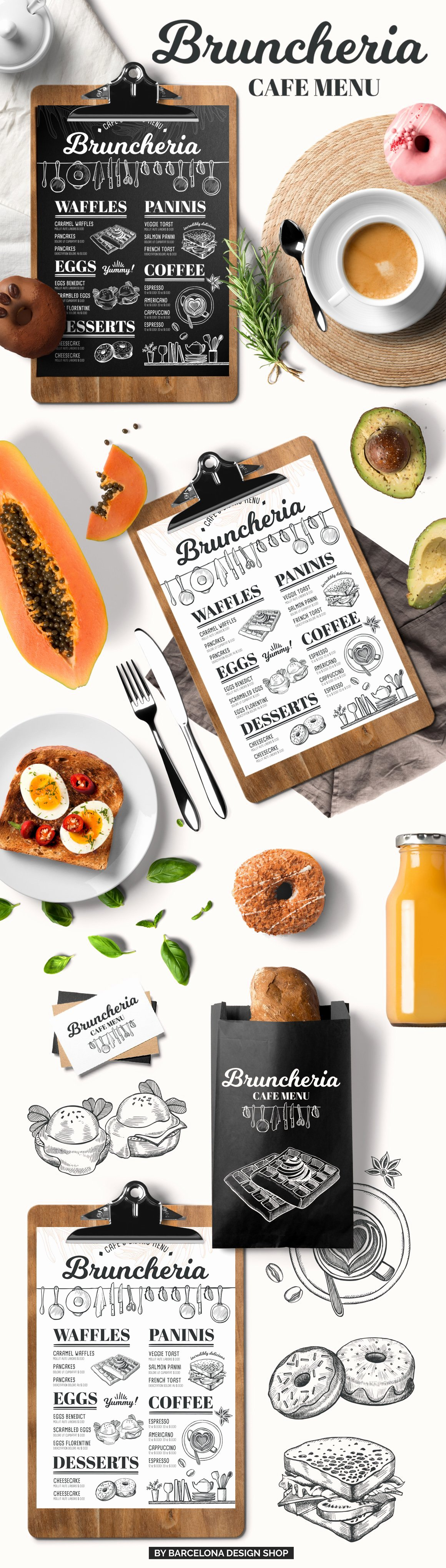Brunch Menu Templates New Brunch Menu Restaurant Template Brochure Templates