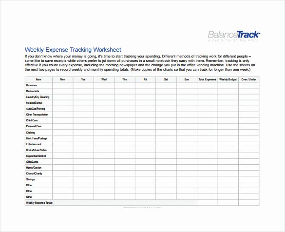 Budget Tracker Template Awesome Expense Sheet Template 9 Free Word Excel Pdf