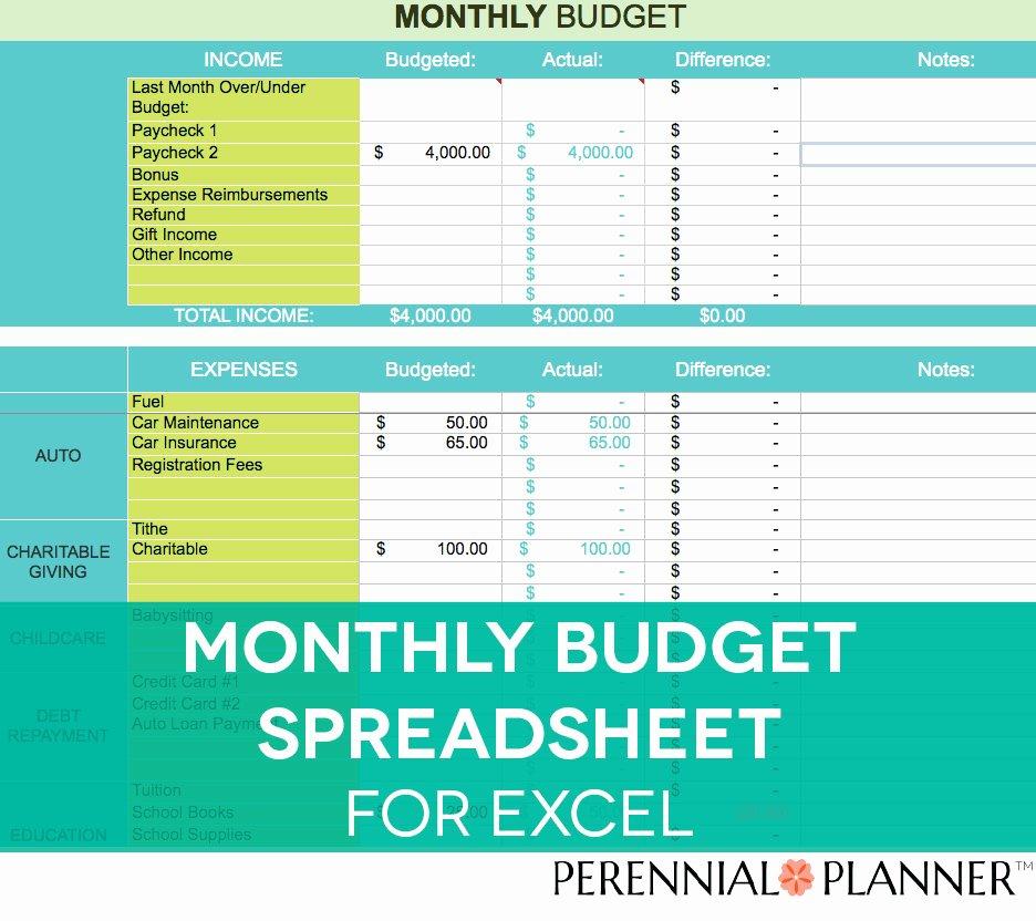 Budget Tracker Template Fresh Monthly Bud Spreadsheet Household Money Tracker Microsoft