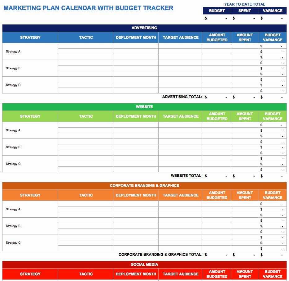 Budget Tracker Template Inspirational 9 Free Marketing Calendar Templates for Excel Smartsheet