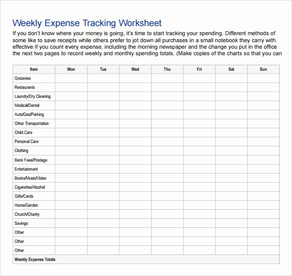 Budget Tracker Template Luxury Expense Tracking Template 7 Download Free Documents In