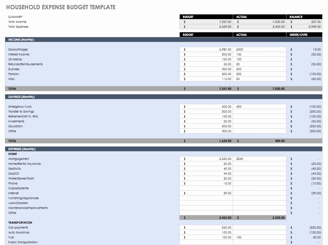 Budget Tracker Template Luxury Free Bud Templates In Excel for Any Use