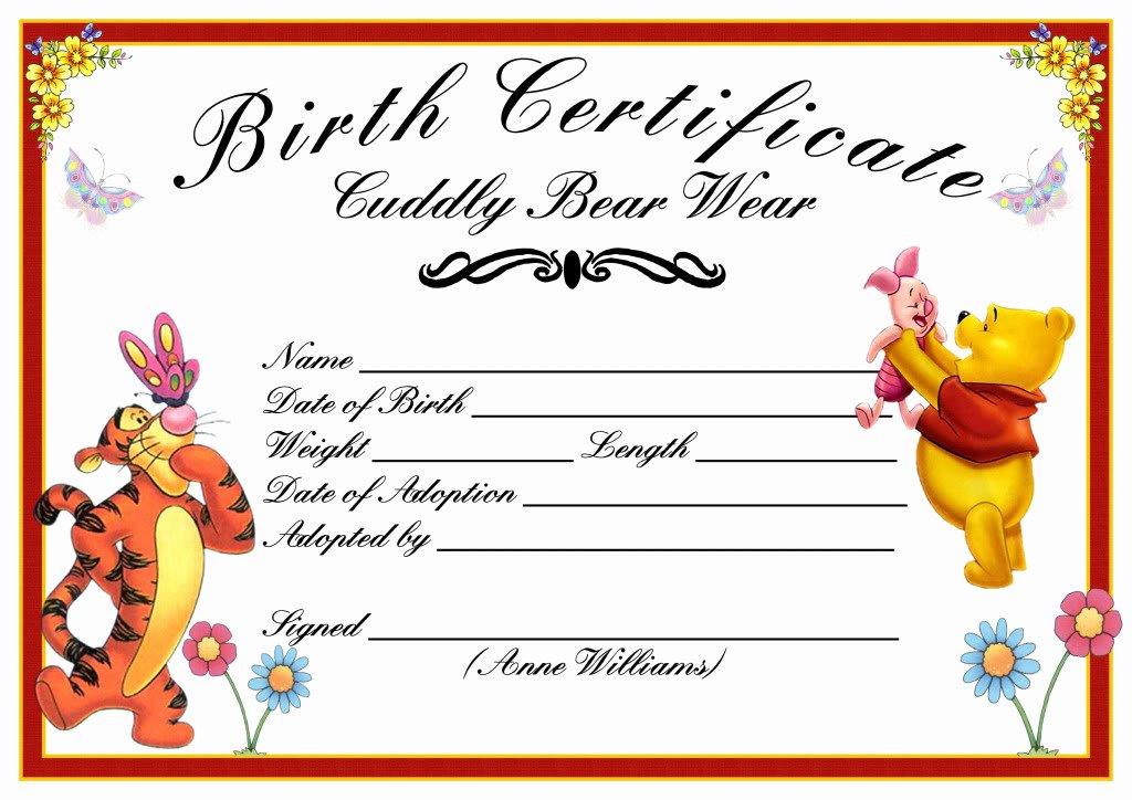 Build A Bear Birth Certificate Template Blank Best Of Bear Factory Bears and Friends Build A Bear Cuddly Bear