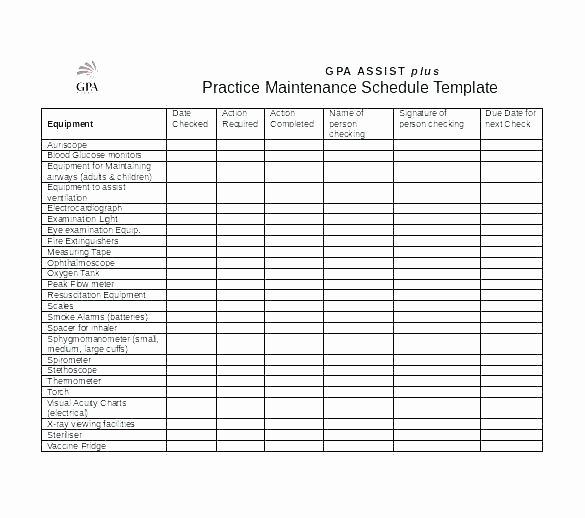 Building Maintenance Schedule Fresh Facility Maintenance Plan Template – Proutsav