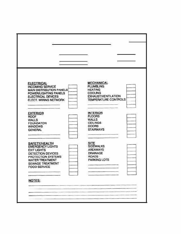 Building Maintenance Schedule Template Beautiful Building Maintenance Checklist