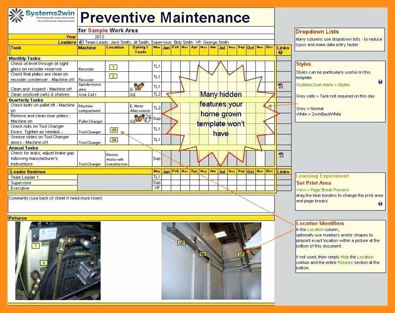 Building Maintenance Schedule Template Fresh 12 13 School Maintenance Plan Template