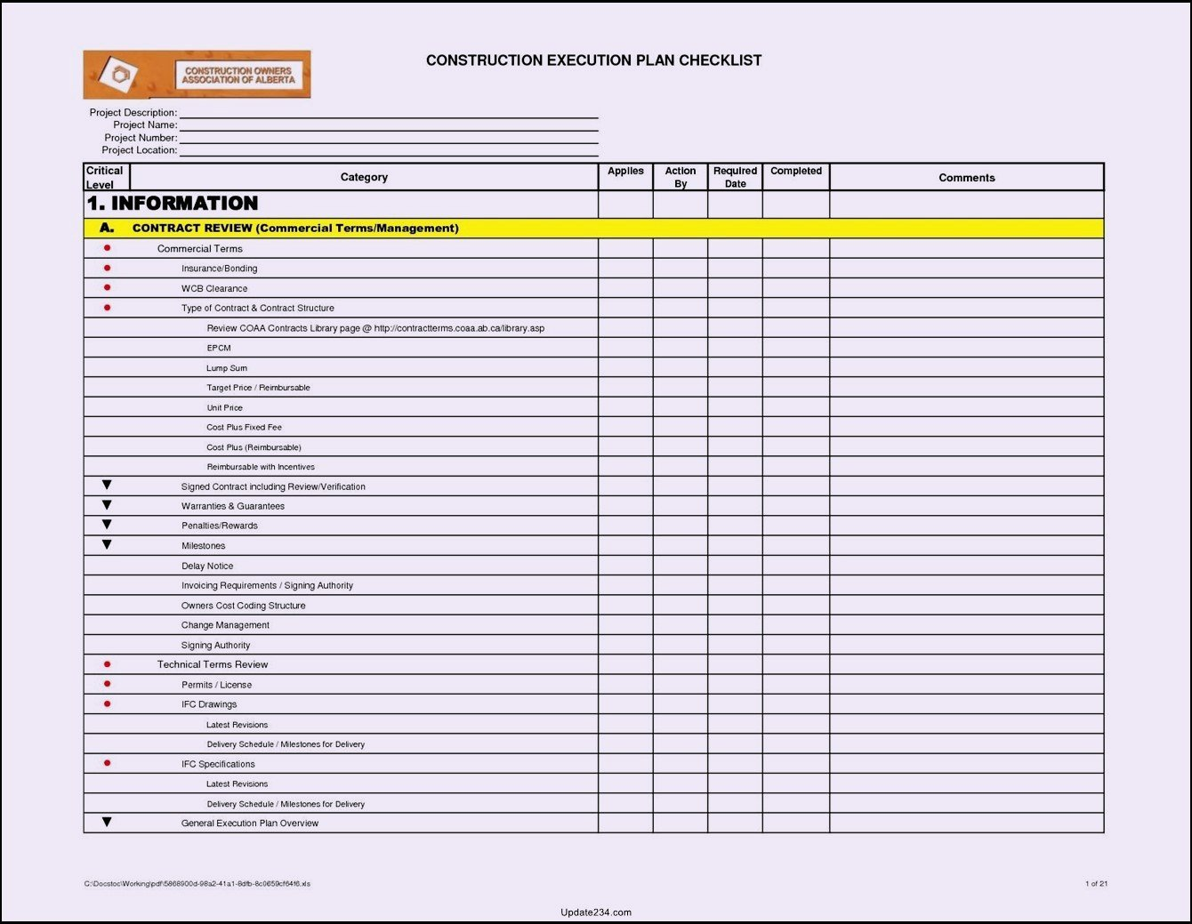 Building Maintenance Schedule Template New Building Maintenance Checklists – Emmamcintyrephotography