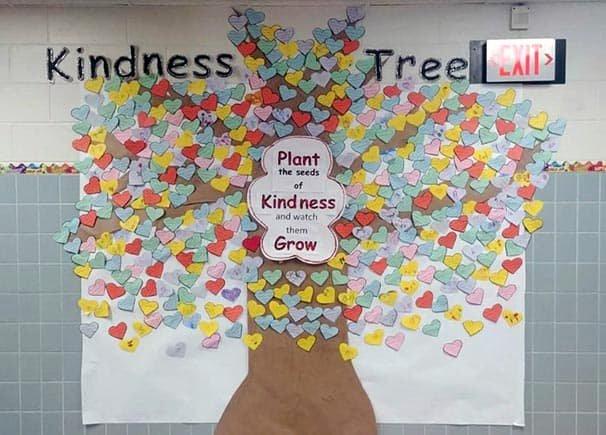 Bulletin Board Tree Template Beautiful 26 Inspiring Kindness Trees Found In Schools