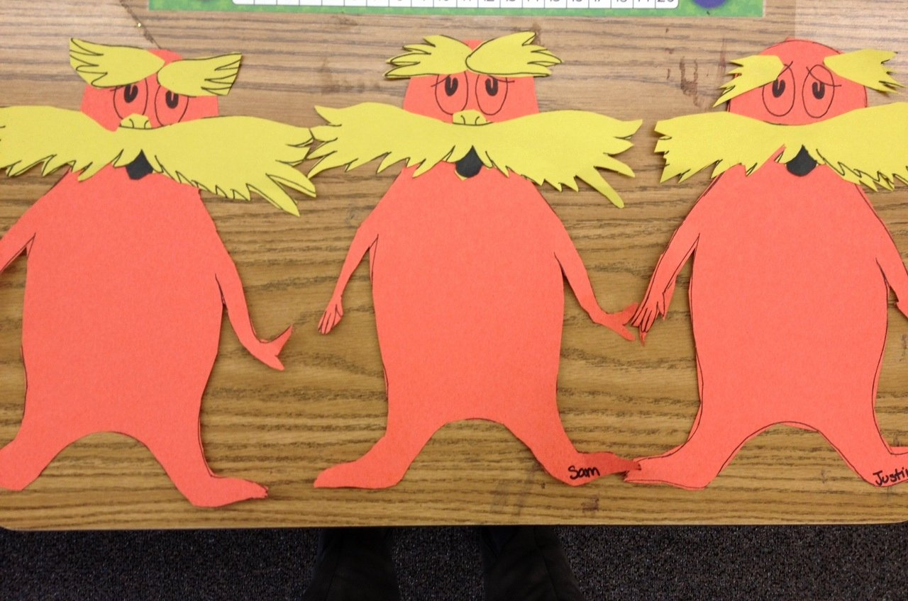 Bulletin Board Tree Template Beautiful Lorax Mustache Craft Apples and Abc S