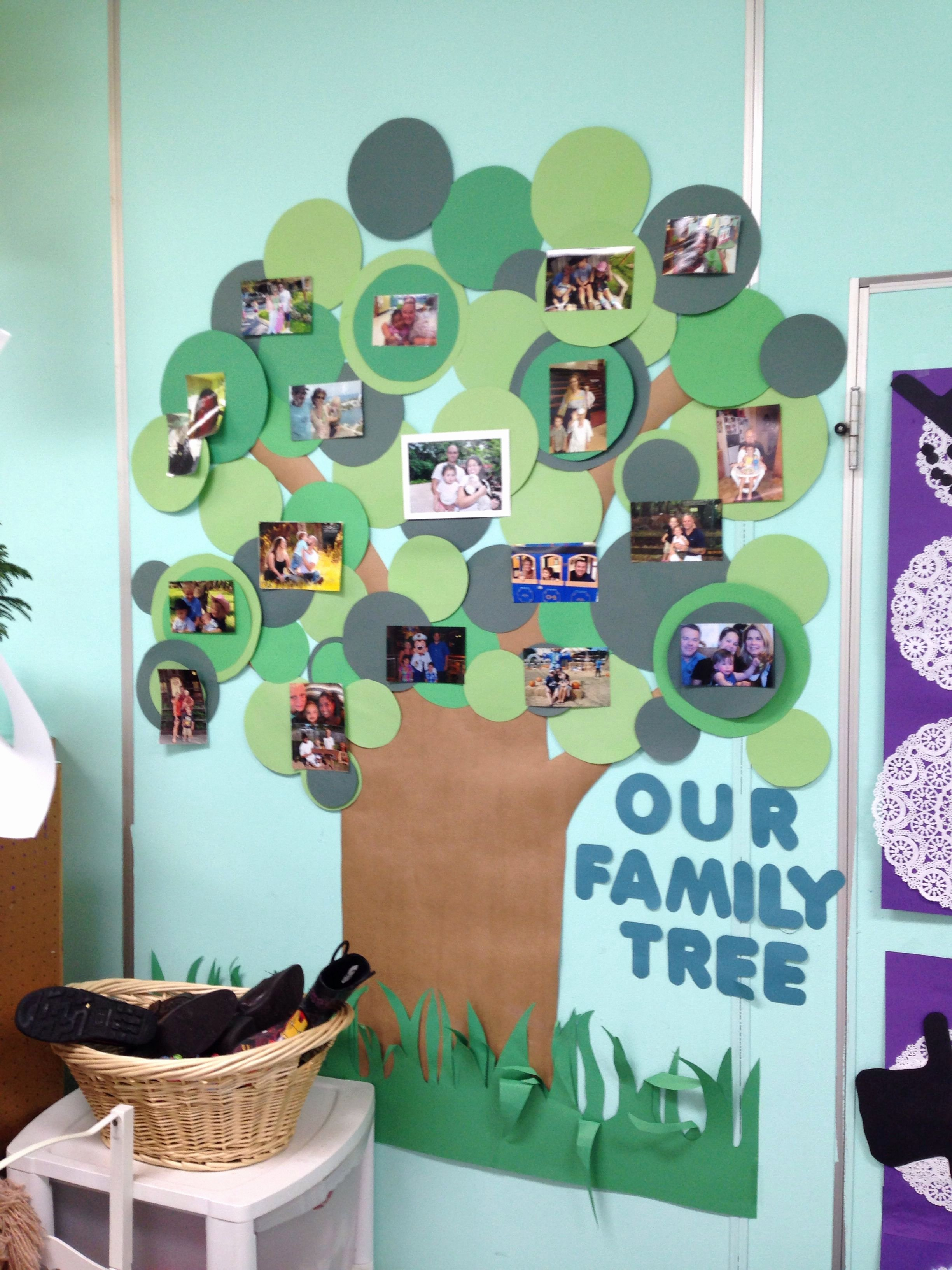 Bulletin Board Tree Template Luxury School Family Photo Wall I Made This for My Classroom to