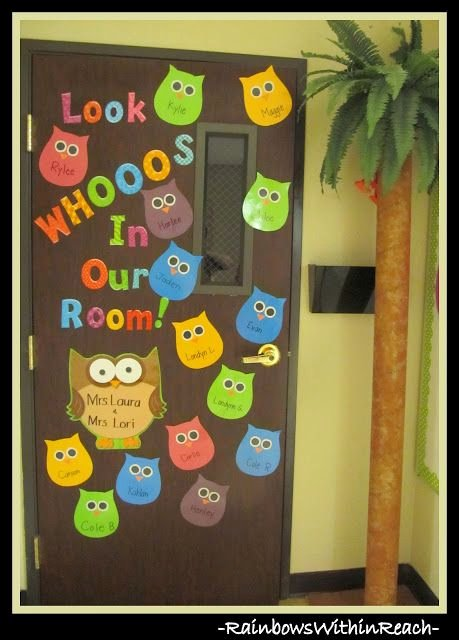 Bulletin Board Tree Template Unique Photo Of Classroom Door On Owl theme W Diy Palm Tree Via