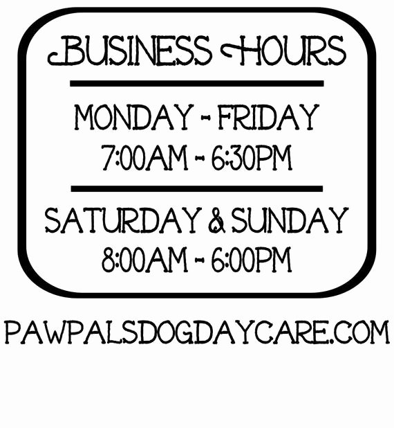 Business Hours Sign Template Awesome Business Hours Vinyl Decal Store Hours Open Hours