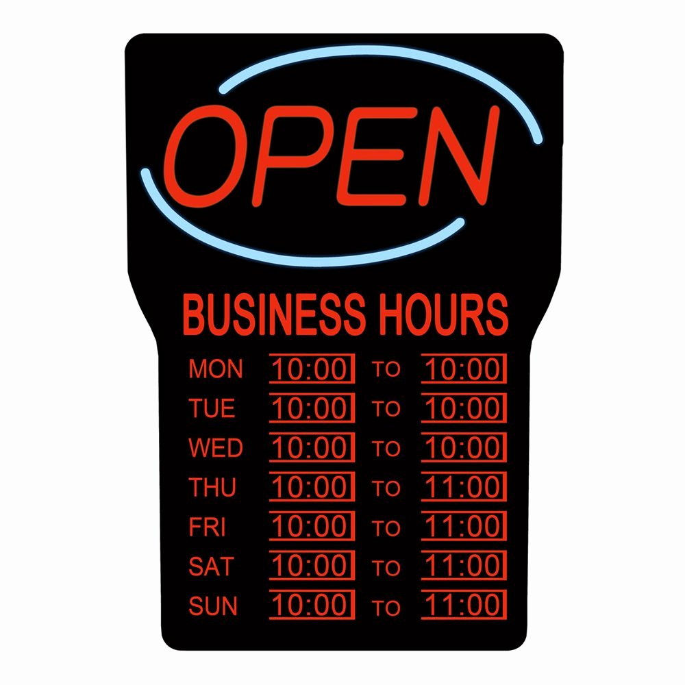 Business Hours Sign Template Best Of Rs Canada Rsb 1342 Led Open Sign with Business Hours