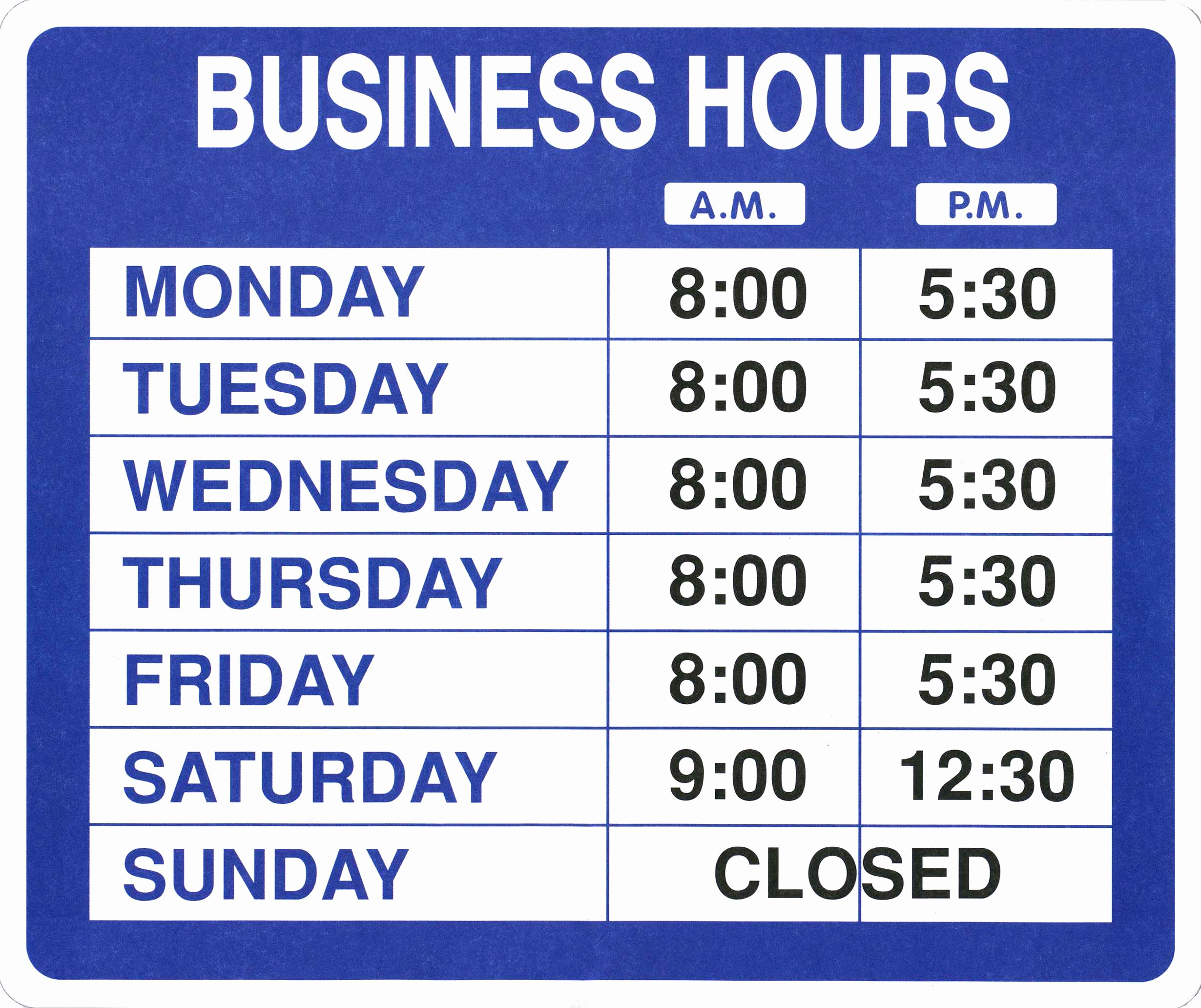 Business Hours Sign Template Free Awesome Garveyproducts Line Shopping for Labelers Taggers