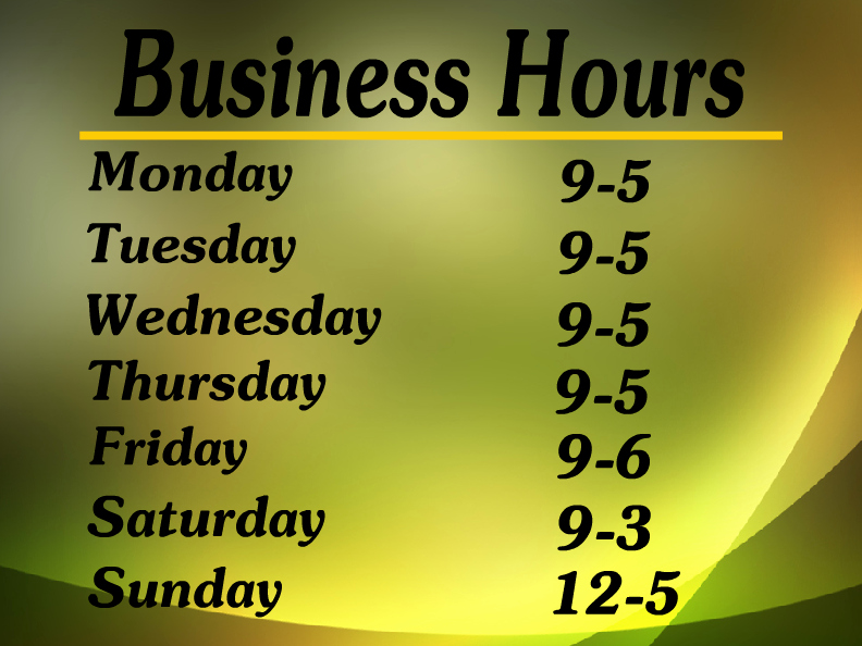 Business Hours Sign Template Fresh Hours Operation Templates