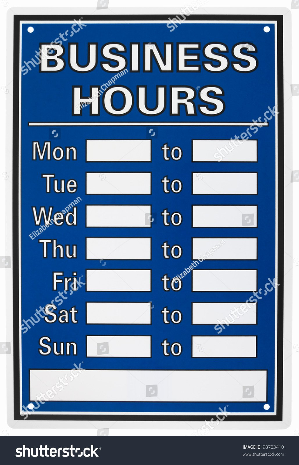 Business Hours Sign Template Unique Business Hours Sign isolated White Stock